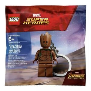 LEGO 5005244 Super Heroes Teen Groot Keyring Keychain Polybag Brand New Sealed
