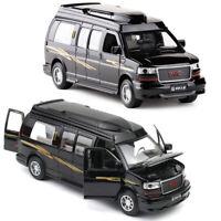 GMC Savana Passagier Van 1:32 Metall Modellauto Auto Spielzeug Model Schwarz