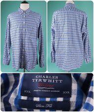 CHARLES TYRWHITT Blue Weekend Button Down Shirt - Men's Sz XXL - SLIM FIT -