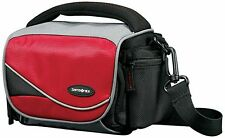 "6"" Medium Horizontal Camera Samsonite Bag Red/Black for Canon Sony Camcorders"