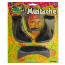 Black Mustache & Sideburns - Mexican Fancy Dress Costume