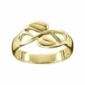Scottish Ola Gorie 9ct Yellow Gold Cecily Ring Arts & Crafts Boxed