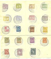 NED INDIE 1914 SPEC PM SEMARANG TENTOONSTELLING 19 VERCH ZEGELS OP GEVOUWEN BLAD