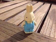 Goma borrar conejo-Rabbit Eraser-Blue overoles (fiesta Bag Toys, gifts)