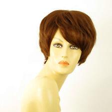 perruque femme 100% cheveux naturel châtain clair cuivré ref AUDREY 30