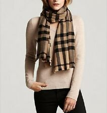 New with tags Burberry Brushed Wool Multicolour Super Exploded Check Scarf Camel