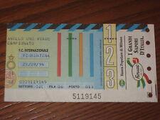 INTER FIORENTINA BIGLIETTO TICKET 1994/95 SERIE A
