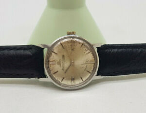VINTAGE JAEGER-LeCOULTRE SILVER DIAL MANUAL WIND LADIES WATCH