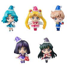 5pcs Sailor Moon Petit Chara Land Outer Solar Christmas Special ver Figurine NB