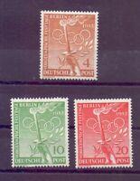 Berlin 1952 - Vor-Olympiade - MiNr. 88/90 postfrisch** - Michel 30,00 € (925)