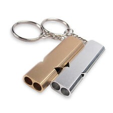 Alloy Aluminum Emergency Survival Outdoor Whistle Camping Hiking Tool W/Keychain