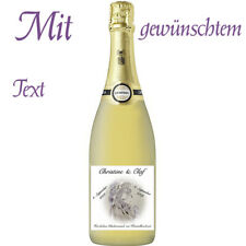 Flaschenetikett/Flaschenaufkleber *Kristallhochzeit* 15.Hochzeitstag, glänzend