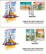 Chile 1996 FDC Obras de Arte Chilenas