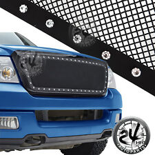 04-08 Ford F150 Replace Rivet Black SS Wire Mesh Grille Grill W/Black ABS Shell