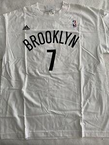 BROOKLYN NETS T SHIRT ADIDAS YOUTH XL NBA BASKETBALL JOE JOHNSON NYC