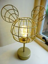 DISNEY Mickey Minnie Mouse LED light bedside lamp gold wirre