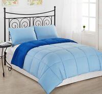 3pc-Super Soft Reversible Down Alternative Comforter Set- All Size,9 Color