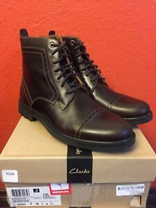 BRAND NEW Clarks size 9 &11M Mens Cap Toe Thick Rubber Bottom High boots