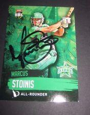 Marcus Stoinis (Australia) signed Melbourne Stars  BBL  Cricket Card + COA