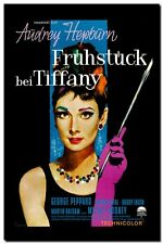 AUDREY HEPBURN  QUALITY CANVAS PRINT- Vintage German Movie Poster A4