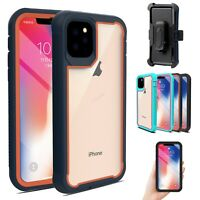For iPhone 11 Pro Max Protective Armor Case Dual Layer Bumper Cover+Belt Clip