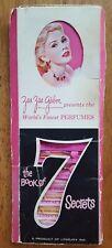 Vintage Perfume Sampler Order Book of 7 Secrets Zsa Zsa Gabor G.O. Lovejoy 1962