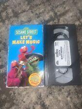 Sesame Street : Let's Make Music VHS Video