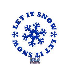 Let It Nieve Copo De Nieve Vinilo Pegatina Calcomanía Auto Camión De Esquí Snowboard Casco de Cara