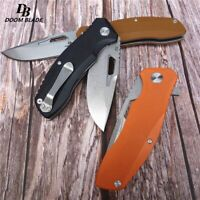 """7.9"""" FH11 60-61HRC Knives G10 Handle Folding Knife Survival Camping Hunting"""