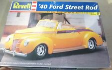 REVELL 1940 FORD CONVERTIBLE STREET ROD 1/25 MODEL CAR MOUNTAIN OPEN