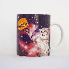 chat dans l'espace Tasse aléatoire cadeaux Hamburger Imprimé Animal café thé