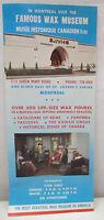 Vintage Famous Wax Museum Montreal Canada Tourist Souvenir Brochure