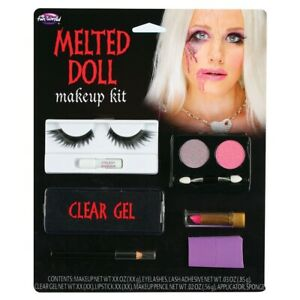 Melted Doll Face Make Up Voodoo doll Halloween Special FX Kit