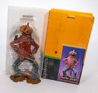 """12.5"""" Resin Halloween Characters Kirkland's Pumpkin Scarecrow Figure Statue"""