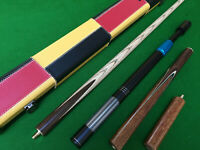 "8.5mm Tip 57.1"" Handmade 3/4 Snooker Cue Set includes extensions and case"