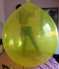 "2x 45""-50"" Riesenballons KRISTALL GELB+KLAR extrem-belastbar, Party-Spass-Looner"
