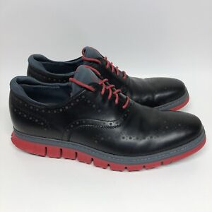 Cole Haan ZeroGrand Wingtip Oxford Black/Tango Red Men's Size 11 C31677