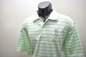 Peter Millar Golf Polo TPC Sawgrass Striped Short Sleeve Mens Size Large