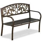 Park Bench Steel Iron Frame Outdoor Garden Patio Park Chair Seat Vintage Bronze