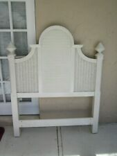Twin Headboard Wood Cottage Plantation Shutter Style White    Shipping Extra