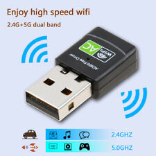 Wireless USB Adapter 600Mbps WiFi Dongle PC Network Lan Card Dual Band  802.11AC