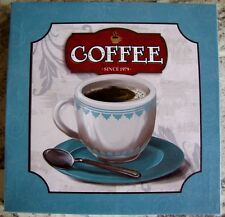 """""""Coffee Since 1979"""" Kitchen Canvas Wall Picture Home Office Decor 8 1/2 x 8 1/2"""