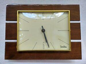 RARE MID CENTURY MODERNISM TEAK WALL CLOCK VINTAGE BY ZENTRA