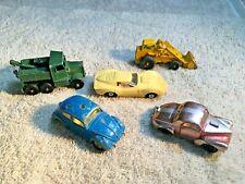 5 Vintage Toy Vehicles - Aurora (2) - Husky - Lesney - Other - Nice Find - A1722