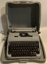 Excellent Condition 1950s Early SM3 Olympia Deluxe Typewriter Gray Brown Keys