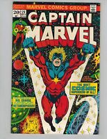 Captain Marvel 29  Thanos! Drax!  1st Eon! Mark Jewelers Insert  VF 1973 Starlin