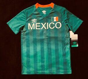Brand New Mexico National Football Team Boys Green Soccer Logo Jersey Sz M 8/10