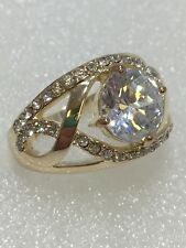 Gorgeous Vintage Avon STUNNER RING CZ Clear Size 10