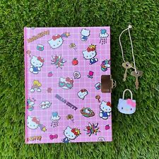 Hello Kitty Diary With Lock Pink Pop Journal Sanrio Stationery