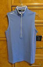 Women's Ralph Lauren RLX golf shirt blue pink white size S brand new NWT $89.50
